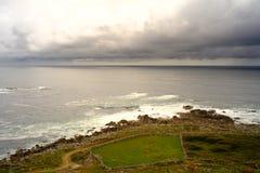 Νεφελώδης θάλασσα στη Γαλικία στοκ φωτογραφίες