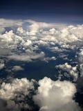 νεφελώδης ουρανός ανασκόπησης Στοκ Εικόνα