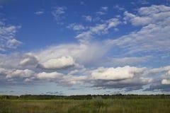 νεφελώδες τοπίο Στοκ Φωτογραφία