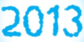 Νεφελώδες το 2013 Στοκ εικόνα με δικαίωμα ελεύθερης χρήσης