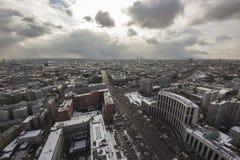 Νεφελώδης εικονική παράσταση πόλης wheather Στοκ Εικόνα