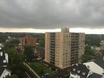 Νεφελώδης ημέρα σε Stamford, Κοννέκτικατ στοκ εικόνες