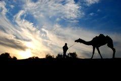 Νεφελώδης καιρός στην έρημο Στοκ εικόνες με δικαίωμα ελεύθερης χρήσης