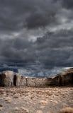 Νεφελώδης κοιλάδα μνημείων ουρανών Στοκ Εικόνα