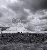 Νεφελώδης κοιλάδα μνημείων ουρανών Στοκ Φωτογραφία
