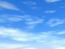 Νεφελώδης μπλε ουρανός Στοκ Φωτογραφία