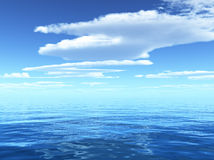 Νεφελώδης μπλε ουρανός Στοκ φωτογραφία με δικαίωμα ελεύθερης χρήσης