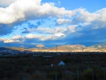 νεφελώδης ουρανός Στοκ φωτογραφία με δικαίωμα ελεύθερης χρήσης