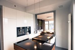 Νεωτεριστικό διαμέρισμα Στοκ εικόνες με δικαίωμα ελεύθερης χρήσης