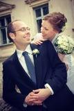 Νεόνυμφος και νύφη Στοκ φωτογραφίες με δικαίωμα ελεύθερης χρήσης