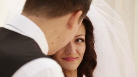 Νεόνυμφος και νύφη απόθεμα βίντεο