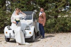 Νεόνυμφος και νύφη Στοκ Εικόνες