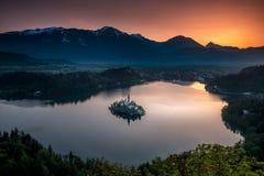 Νησί αιμορραγημένος από Mala Osojnica στοκ φωτογραφίες με δικαίωμα ελεύθερης χρήσης