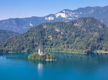 Νησί αιμορραγημένος στη Σλοβενία στοκ φωτογραφία με δικαίωμα ελεύθερης χρήσης