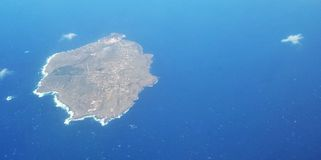 Νησί από το αεροπλάνο Στοκ Εικόνες