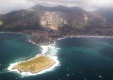Νησί από το αεροπλάνο Στοκ Εικόνα