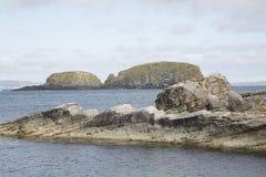 Νησί από Ballintoy  Κομητεία Antrim  Βόρεια Ιρλανδία Στοκ Εικόνες