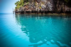 Νησί ασβεστόλιθων της Θάλασσας Ανταμάν Στοκ εικόνα με δικαίωμα ελεύθερης χρήσης