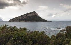 Νησί για την ακτή του aranci golfo Στοκ Φωτογραφία