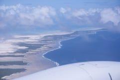 Νησί Ειρηνικών Ωκεανών από τον αέρα Στοκ φωτογραφία με δικαίωμα ελεύθερης χρήσης