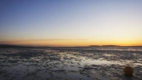 Νησί ηλιοβασιλέματος Wirral hilbre Στοκ Φωτογραφίες