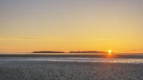 Νησί ηλιοβασιλέματος Wirral hilbre Στοκ φωτογραφίες με δικαίωμα ελεύθερης χρήσης