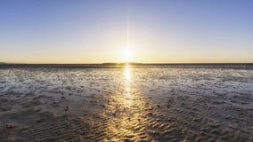 Νησί ηλιοβασιλέματος Wirral hilbre Στοκ εικόνες με δικαίωμα ελεύθερης χρήσης