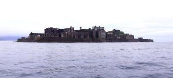 Νησί θωρηκτών Gunkanjima στο Ναγκασάκι Ιαπωνία στοκ εικόνες