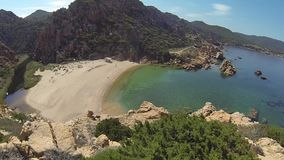 Νησί Ιταλία Paradiso Σαρδηνία πλευρών παραλιών λι Cossi απόθεμα βίντεο