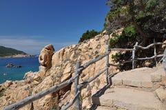 Νησί Ιταλία Paradiso Σαρδηνία πλευρών παραλιών λι Cossi Στοκ φωτογραφία με δικαίωμα ελεύθερης χρήσης