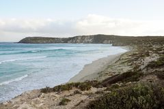 Νησί καγκουρό, αξιοπρόσεκτοι βράχοι, Νότια Αυστραλία Στοκ Εικόνα