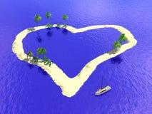 νησί καρδιών Στοκ εικόνες με δικαίωμα ελεύθερης χρήσης