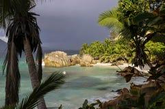 Νησί Λα Digue, Σεϋχέλλες Στοκ Φωτογραφία