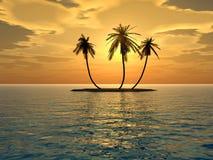 νησί μέσο sunset2 Στοκ εικόνες με δικαίωμα ελεύθερης χρήσης