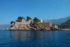 Νησί Μαυροβούνιο Αγίου Stefan Στοκ Εικόνα