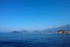 Νησί Μαυροβούνιο Αγίου Stefan Στοκ φωτογραφία με δικαίωμα ελεύθερης χρήσης