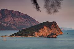 Νησί Μαυροβούνιο της Nikola Sveti Στοκ φωτογραφίες με δικαίωμα ελεύθερης χρήσης