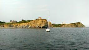 Νησί με τα σπίτια Στοκ φωτογραφία με δικαίωμα ελεύθερης χρήσης