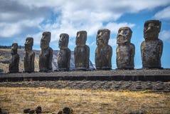 Νησί Πάσχας αγαλμάτων Nui Moai Rapa στοκ φωτογραφία
