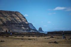 Νησί Πάσχας αγαλμάτων Nui Moai Rapa στοκ φωτογραφία με δικαίωμα ελεύθερης χρήσης