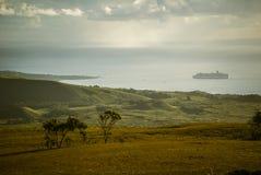 Νησί Πάσχας αγαλμάτων Nui Moai Rapa στοκ εικόνες
