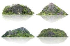 Νησί πανοράματος, λόφος, βουνό που απομονώνεται σε ένα άσπρο υπόβαθρο Η συλλογή του βουνού στοκ εικόνες με δικαίωμα ελεύθερης χρήσης