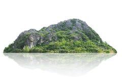 Νησί πανοράματος, λόφος, βουνό που απομονώνεται σε ένα άσπρο υπόβαθρο στοκ φωτογραφία με δικαίωμα ελεύθερης χρήσης