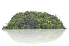Νησί πανοράματος, λόφος, βουνό που απομονώνεται σε ένα άσπρο υπόβαθρο στοκ εικόνα με δικαίωμα ελεύθερης χρήσης