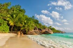 Νησί Σεϋχέλλες praslin του Λάτσιο Anse Στοκ φωτογραφίες με δικαίωμα ελεύθερης χρήσης