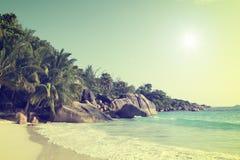 Νησί Σεϋχέλλες praslin του Λάτσιο Anse Στοκ φωτογραφία με δικαίωμα ελεύθερης χρήσης