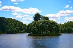 Νησί στη λίμνη πάρκων Στοκ φωτογραφία με δικαίωμα ελεύθερης χρήσης