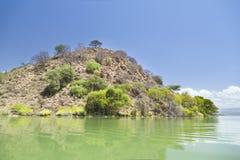 Νησί στη λίμνη Baringo στην Κένυα Στοκ Φωτογραφία