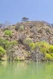 Νησί στη λίμνη Baringo στην Κένυα. Στοκ Εικόνα