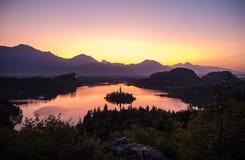 Νησί στη λίμνη Στοκ Εικόνες